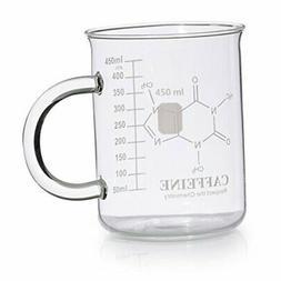 Caffeine Beaker Mug, Caffeine Molecule Mug - Chemistry Mug 1