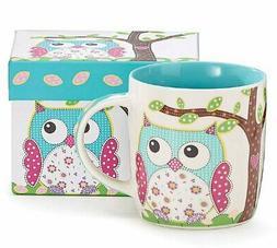 calico owl mug
