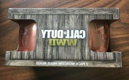 Call Of Duty WWll 2-pk Moscow Mule Mugs- NEW FACTORY SEALED