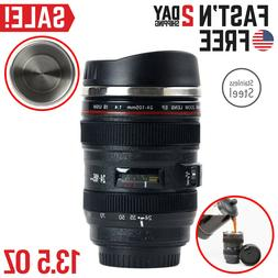 Camera Lens Coffee Mug Cup Tea Travel Photo Funny DSLR Stain