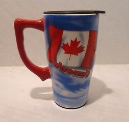 Spoontiques Canada Tall Coffee Mug with Lid, Travel Mug