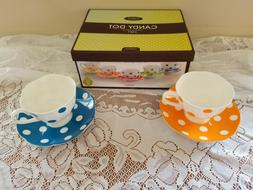 Candy Dot Lloom coffee cups mugs and saucers polka dots tea