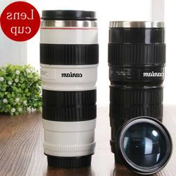Canon Camera Lens Shaped EF 70-200mm Drink Thermos Coffee Cu