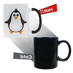 InterestPrint Cartoon Cute Baby Penguin Morphing Mug Heat Se