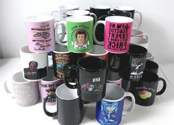 Case of 36 Various Designs Coffee Cups Mugs Black, White, &