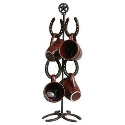 Black Forest Decor Cast Iron Horseshoe Mug Tree