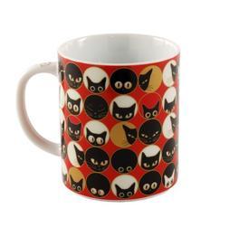 Miya Cat Eyes Mug, Red