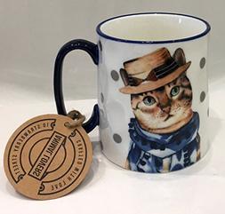 Cat Lover Fine Ceramic Coffee Tea Latte Mug by 10 Strawberry