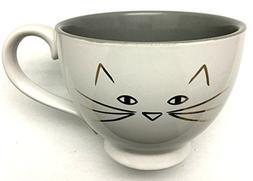 10 Strawberry Street Cat Lover Footed Latte, Coffee, Tea Mug