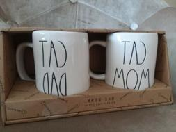 Rae Dunn CAT MOM & CAT DAD Kitty Coffee Tea Mugs MUG SET GIF