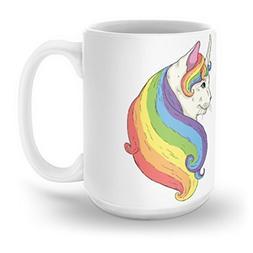 Society6 Cat Unicorn Mug 15 oz