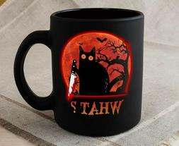 Cat What- Halloween Mug 2020 Funny Cat Coffee Mug Great Nove