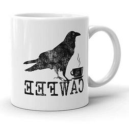 Cawfee Mug Funny Bird Crow Coffee Cup-11oz