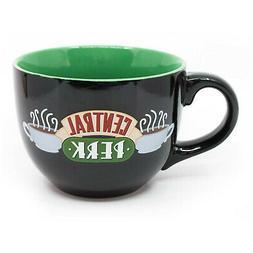 Friends Central Perk Large 24oz Ceramic Mug Bowl Black