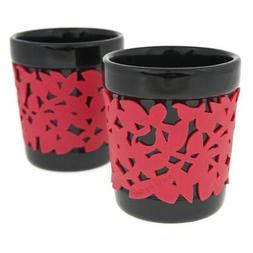 Make My Day Ceramic Hot Beverage Cups with Silicone Sleeve,
