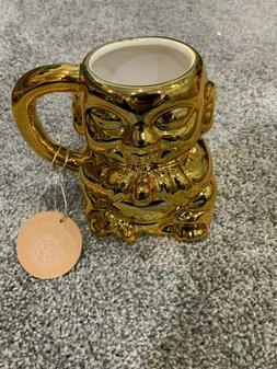 10 Strawberry Street Ceramic Buddha Mug New with Tags GOLD