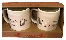 Rae Dunn Large Letter Ceramic Christmas Mr. and Mrs. Claus C