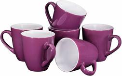 Bruntmor Ceramic Coffee Cups Mugs Set of 6 Large size Tea Co