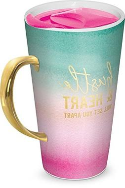 Lady Jayne 13oz Ceramic Coffee Travel Mug with Lid