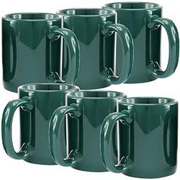 Creative Home Ceramic Coffee Mug, Tea Cup , 12 oz, Green