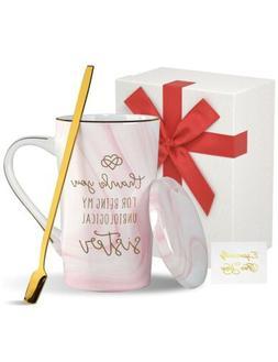 Ceramic Coffee Mug with Lid and Handle