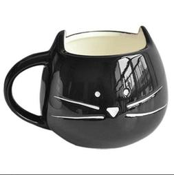 Ceramic Creative black Cat Animal Milk Mug,Office coffee tea
