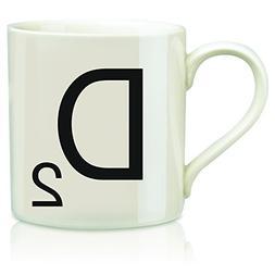 """SCRABBLE Vintage Ceramic Letter""""D"""" Tile Coffee Mug"""