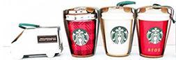 Starbucks Ceramic Hanging Ornaments Set Of 4 2016 Christmas