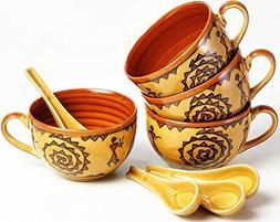 KLEO - Ceramic Porcelain Jumbo Soup Bowls Rice Bowls, Cereal