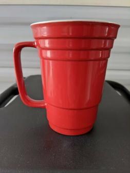 Ceramic Red Solo Tall Hot Chocolate/Coffee Mug