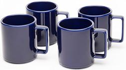 American Mug Pottery Ceramic Square Handle Coffee Mug, Made