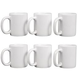Creative Home 85355 Set of 6 Piece, 12 oz Ceramic Coffee Mug