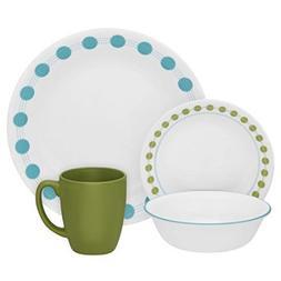 Corelle 16 Piece Charming Hardy Stoneware Livingware Dinnerw