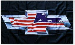 Chevy Flag USA Trucks Chevrolet Silverado Colorado Banner 3x