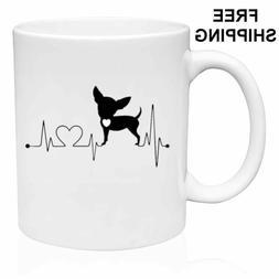 Chihuahua Heart  Mug Gift 11oz