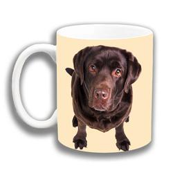 Chocolate Labrador Dog Coffee Mug 10oz Ceramic Photo Print Y