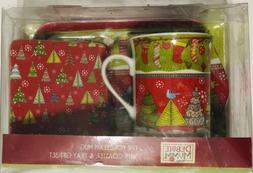 Debbie Mumm Christmas Mug Gift Set Fine Porcelain plus Match