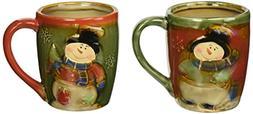 Christmas Snowman 18 Ounce Coffee Mug Set