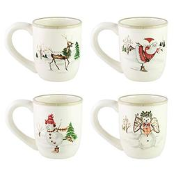 Klikel Christmas Twig Set of 4 Mugs