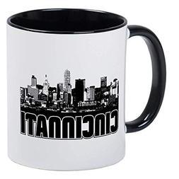 Cincinnati Skyline Mug - Ceramic 11oz RINGER Coffee/Tea Cup