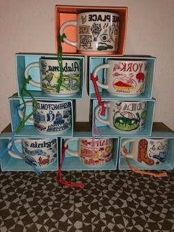 """Starbucks City Ornamen Mugs """"BEEN THERE"""" Collection, New, SK"""