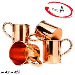 BonBon Classic Solid Copper Moscow Mule Mugs 16oz