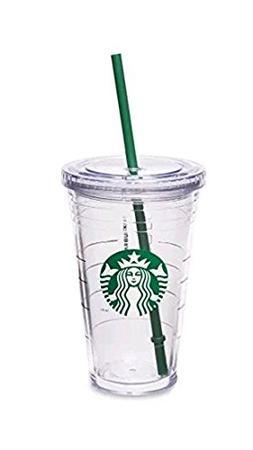 Starbucks 16 Ounce Clear Acrylic Insulated Tumbler