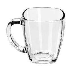 Libbey 14-Ounce Clear Tempo Square Mug, Set of 12