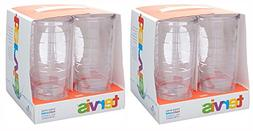 Tervis 16oz clear Tumbler Set of 8, Each Tumbler is 6 Inches