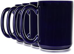 Hikari 16oz Large Cobalt Blue Coffee Tea Mugs. Classic Style