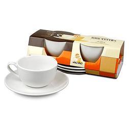 Konitz Coffee Bar Mugs/Saucers, Set of 2