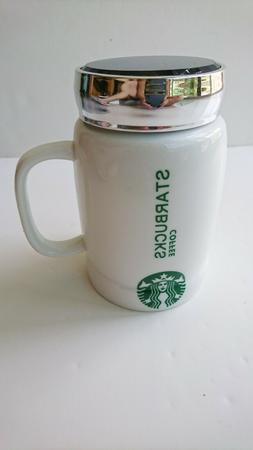 Starbucks Coffee Ceramic Mug Cup with Cap 20 Oz Collection W