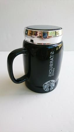 Starbucks Coffee Ceramic Mug Cup with Cap 20 Oz Collection B