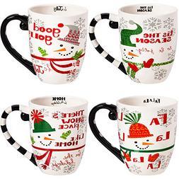 CEDAR HOME Travel Coffee Ceramic Mug Funny Christmas Porcela